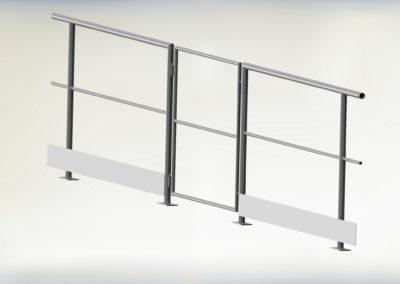 barierka z furtką